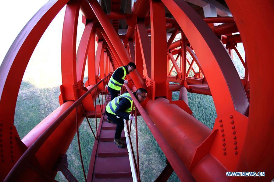 #CHINA-HUBEI-BADONG COUNTY-BRIDGE INSPECTION (CN)