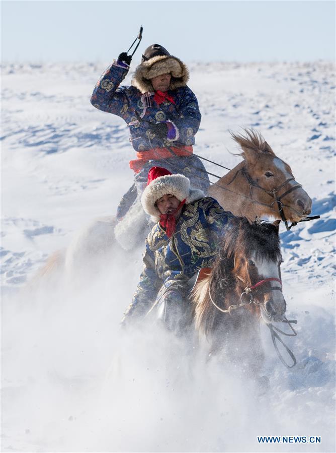 CHINA-INNER MONGOLIA-SNOWFIELD HORSE TAMING (CN)