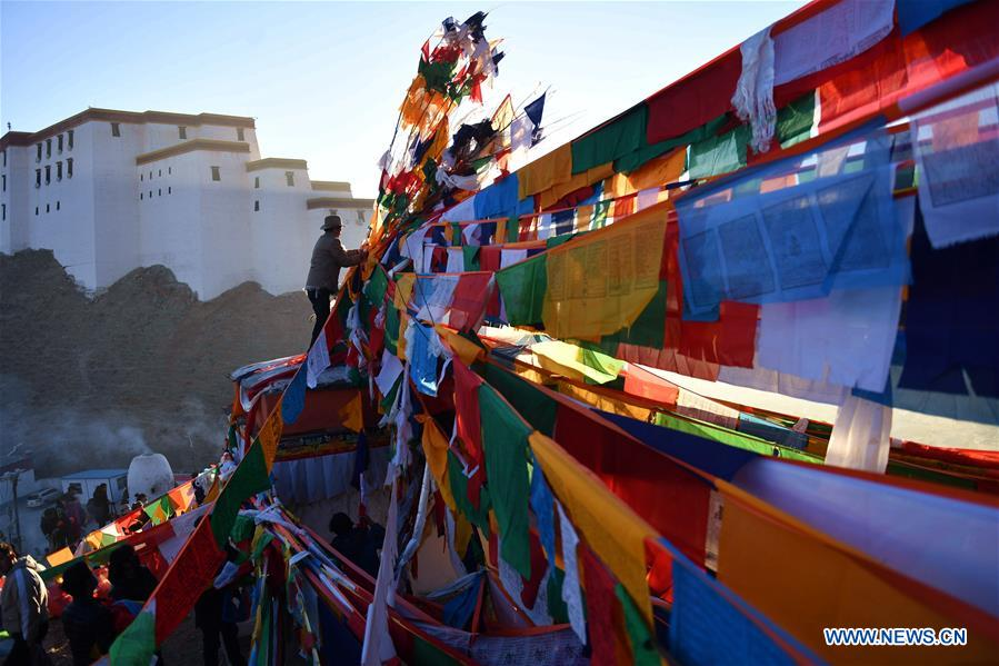 CHINA-XIGAZE-NEW YEAR-PRAYER FLAG (CN)