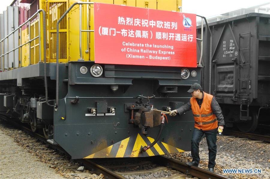 CHINA-XIAMEN-TRAIN-BUDAPEST(CN)