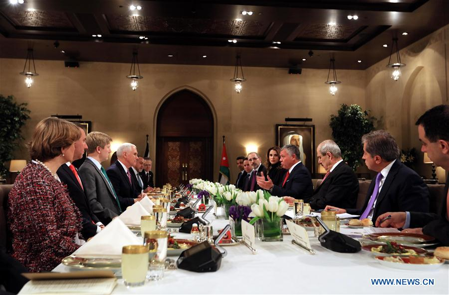 JORDAN-AMMAN-KING-U.S.-VICE PRESIDENT-MEETING