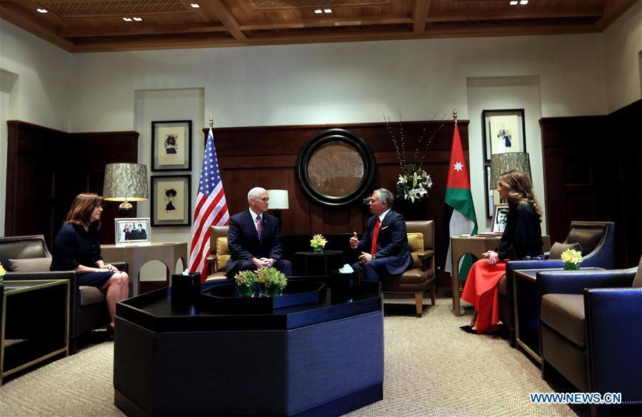 JORDAN-AMMAN-KING-U.S.-VICE PRESIDENT-MEETING