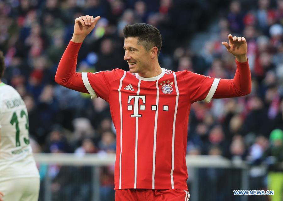 (SP)GERMANY-MUNICH-SOCCER-BUNDESLIGA-BAYERN MUNICH VS BREMEN