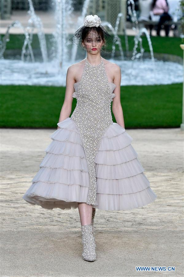Creations of Chanel presented at Haute Couture 2018 in ...