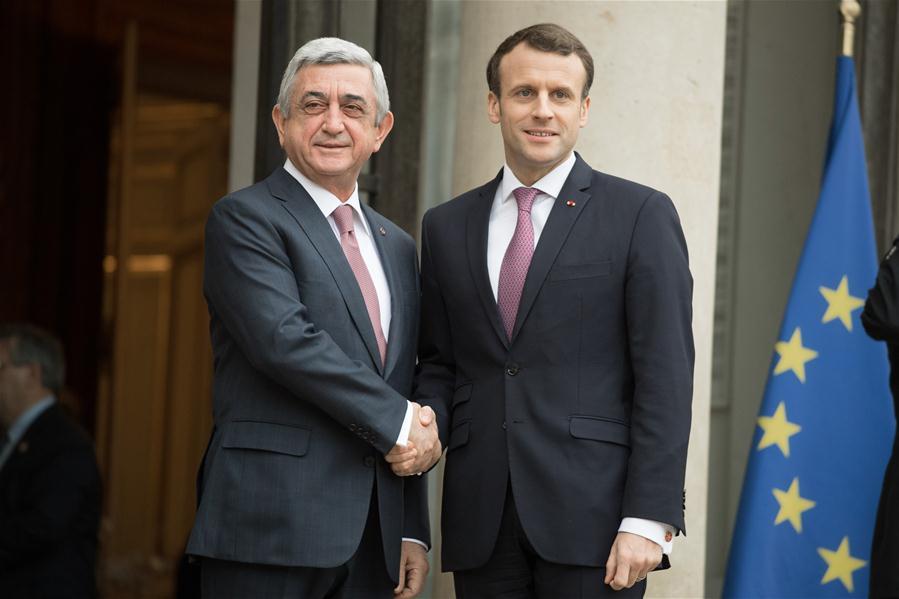 FRANCE-PARIS-ARMENIAN PRESIDENT-VISIT