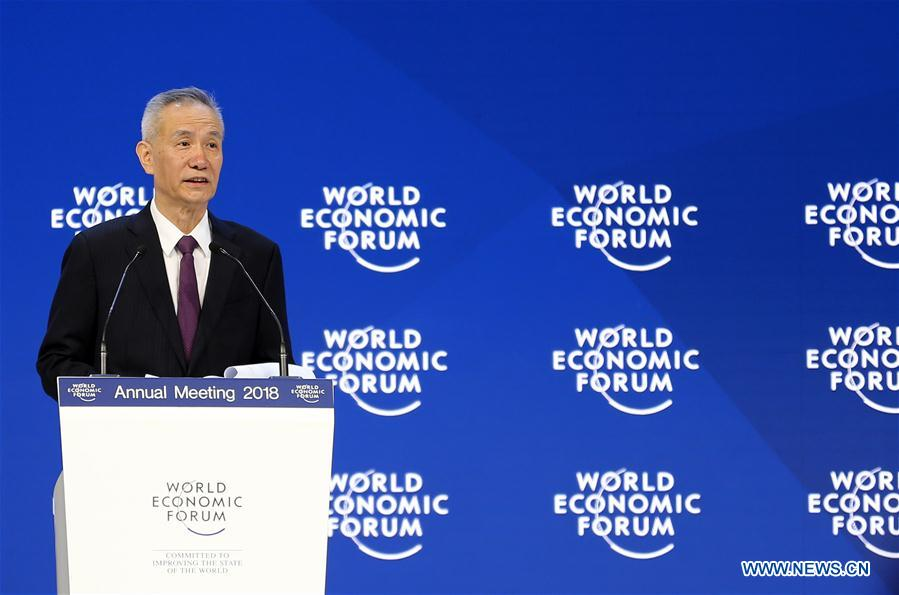 SWITZERLAND-DAVOS-WEF ANNUAL MEETING-CHINA-LIU HE