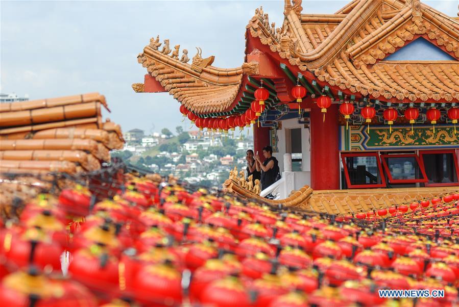 MALAYSIA-KUALA LUMPUR-CHINESE NEW YEAR-RED LANTERN
