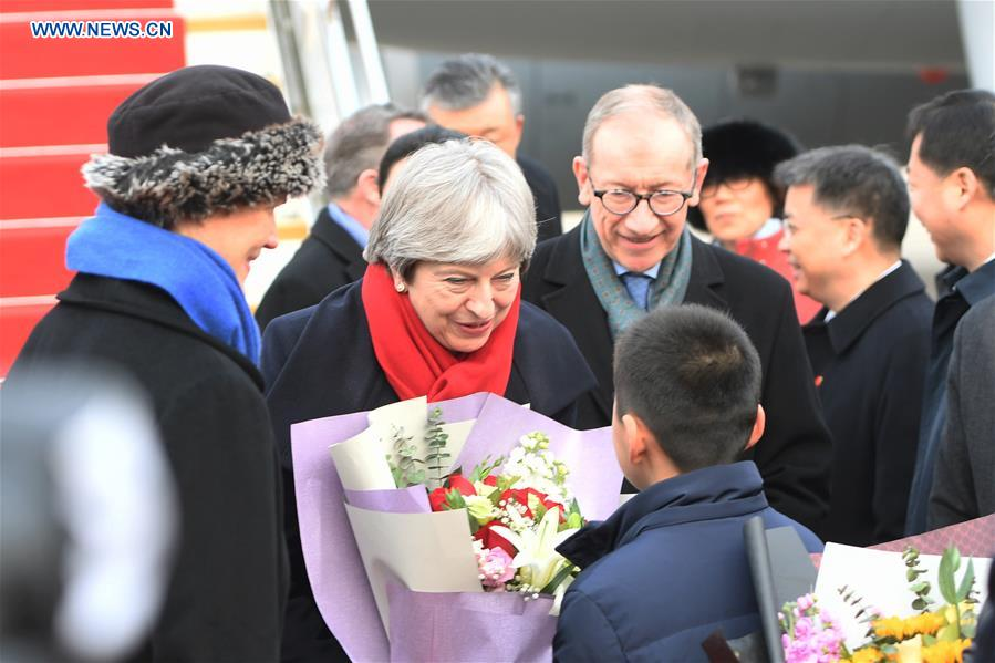 CHINA-WUHAN-BRITISH PM-ARRIVAL (CN)
