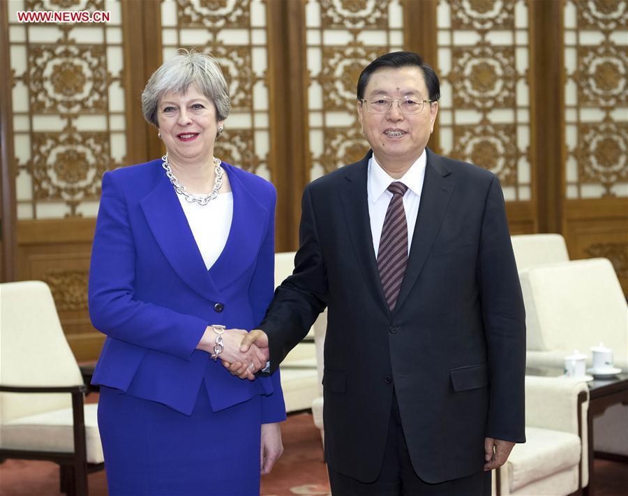 CHINA-BEIJING-ZHANG DEJIANG-BRITISH PM-MEET(CN)