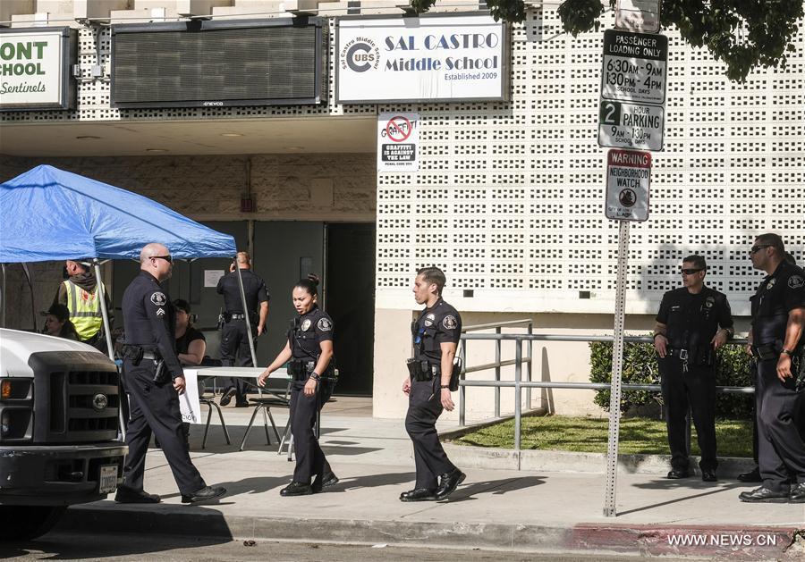 U.S.-LOS ANGELES-SCHOOL-SHOOTING