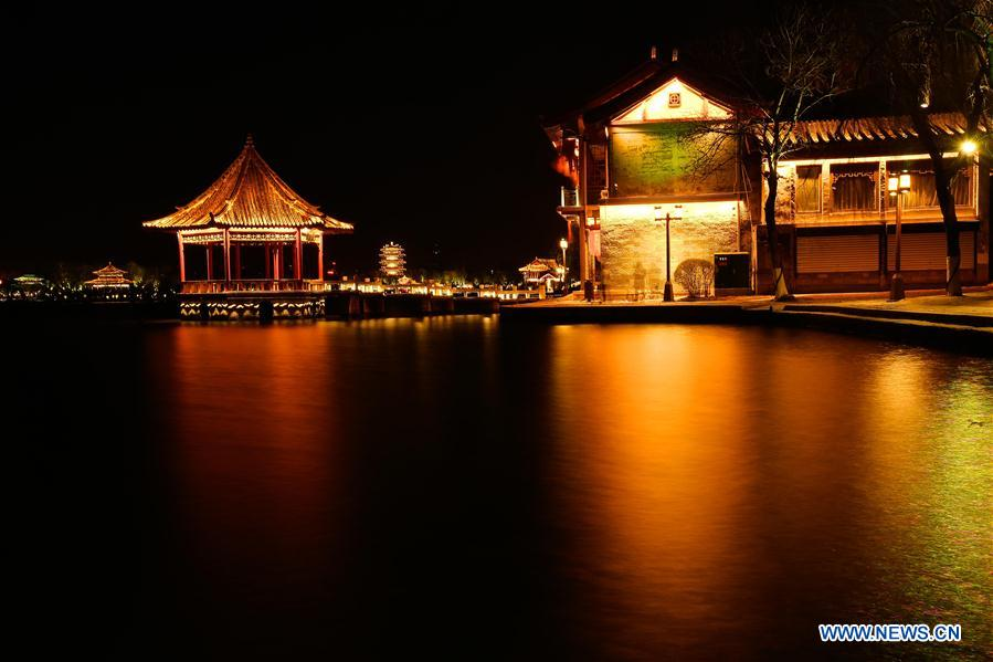 CHINA-SHANDONG-JINAN-DAMING LAKE-NIGHT VIEW(CN)