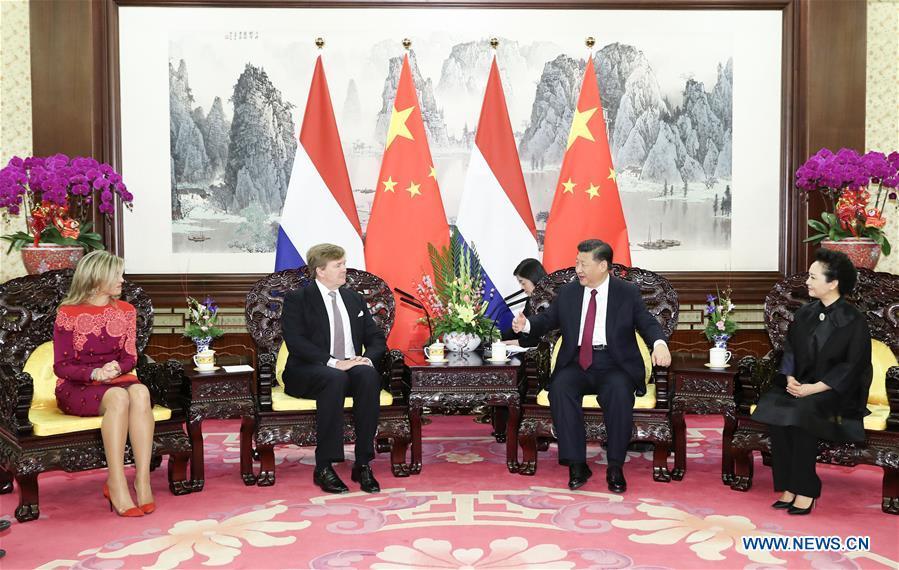 CHINA-BEIJING-XI JINPING-DUTCH KING-MEETING (CN)
