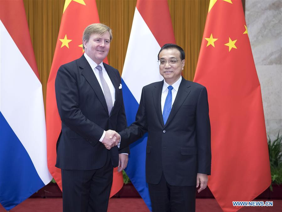CHINA-BEIJING-LI KEQIANG-DUTCH KING-MEETING (CN)