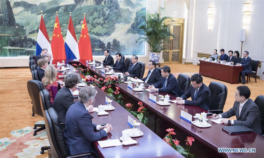 CHINA-BEIJING-LI KEQIANG-DUTCH KING-MEETING (CN)