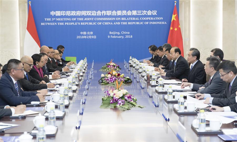 CHINA-BEIJING-WANG YI-INDONESIAN FM-MEETING(CN)