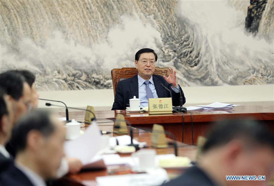 CHINA-BEIJING-NPC-ZHANG DEJIANG-MEETING (CN)