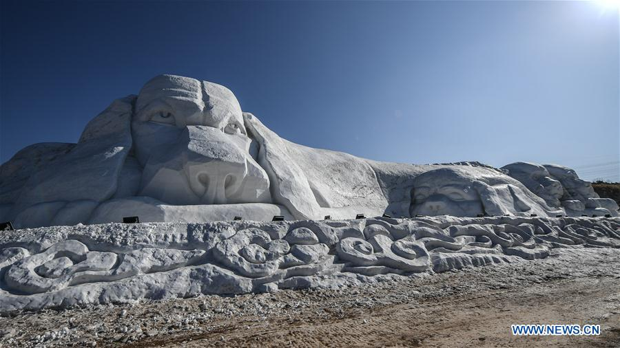 CHINA-LIAONING-SHENYANG-SNOW SCULPTURE (CN)
