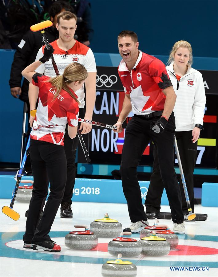(SP)OLY-SOUTH KOREA-PYEONGCHANG-CURLING-MIXED DOUBLES-CAN VS NOR
