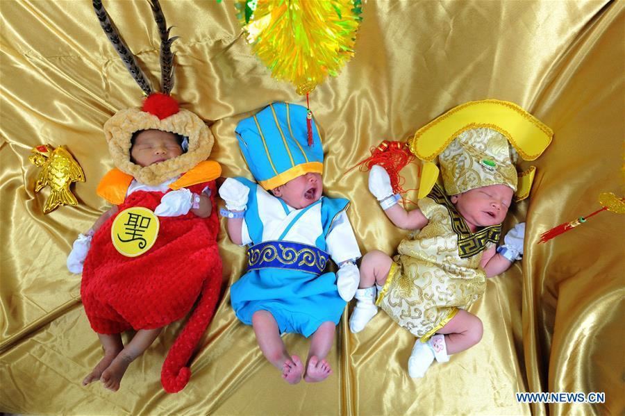 THAILAND-BANGKOK-BABIES-CHINESE NEW YEAR