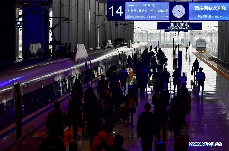 CHINA-CHONGQING-RAILWAY-TRAVEL PEAK (CN)