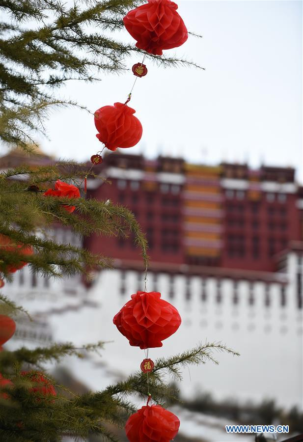 CHINA-LHASA-SPRING FESTIVAL-DECORATION (CN)