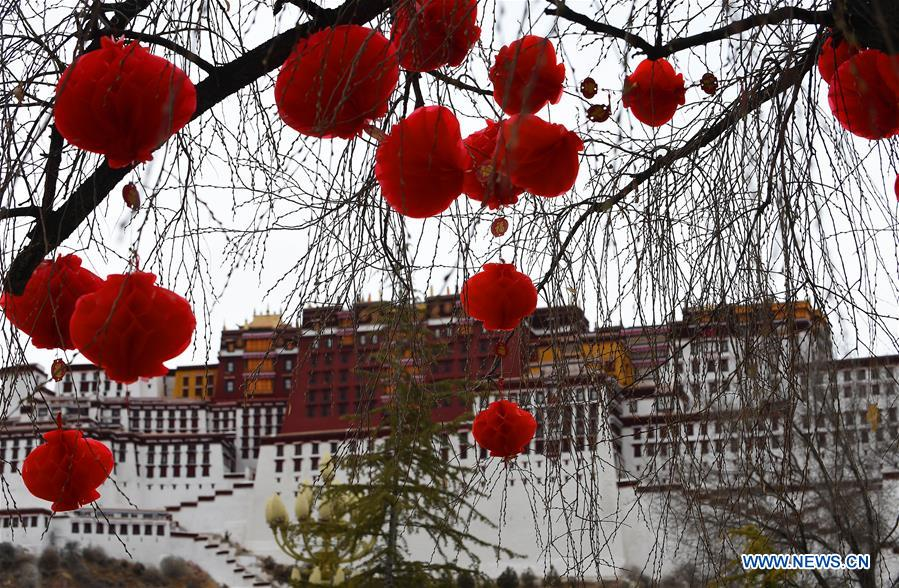 Decorations seen in front of Potala Palace