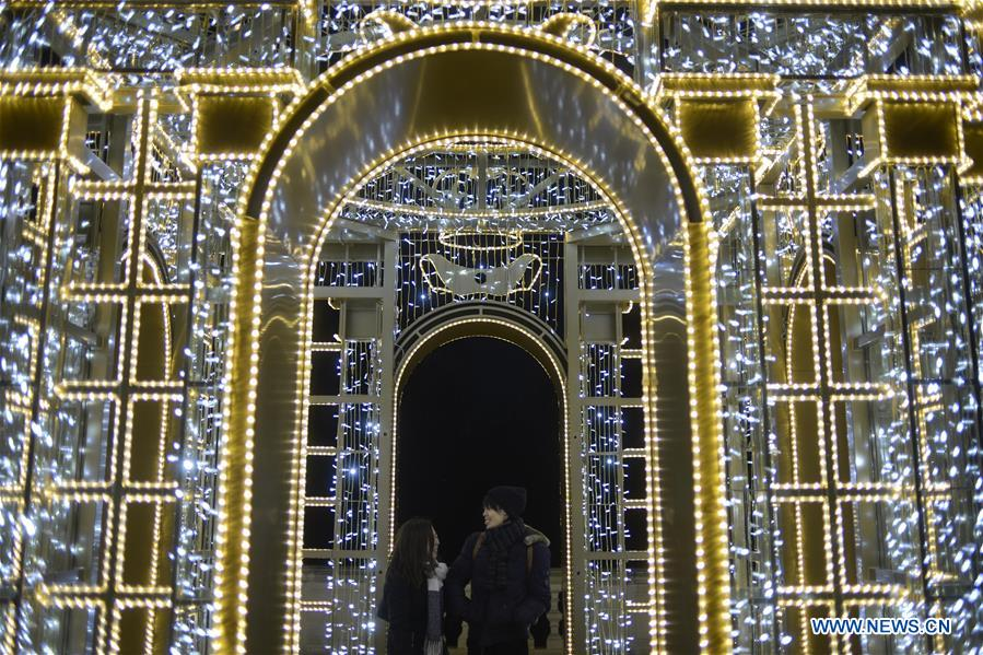 POLAND-WARSAW-WILANOW PALACE-EXHIBITION-ROYAL GARDEN OF LIGHT