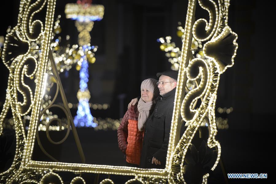 POLAND-WARSAW-WILANOW PALACE-EXHIBITION-ROYAL GARDEN OF LIGHT