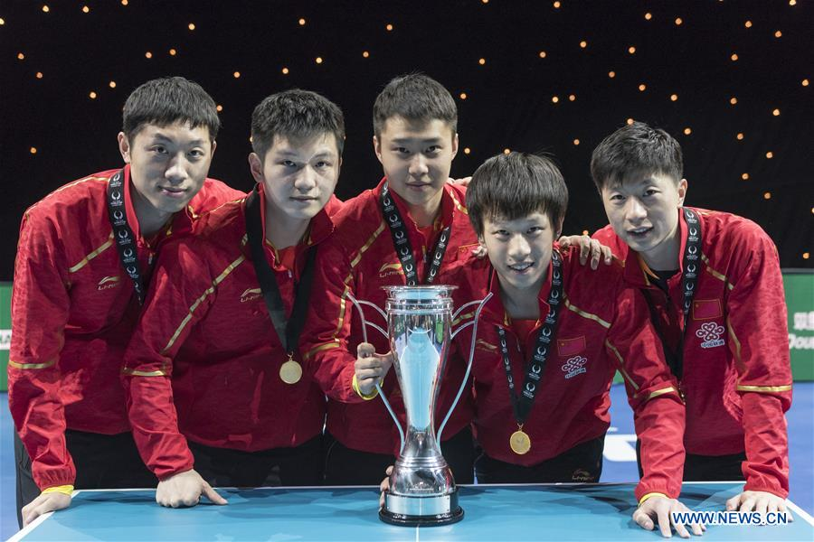 10a996950 (SP)BRITAIN-LONDON-CHINA WIN ITTF TEAM WORLD CUP MEN S FINAL