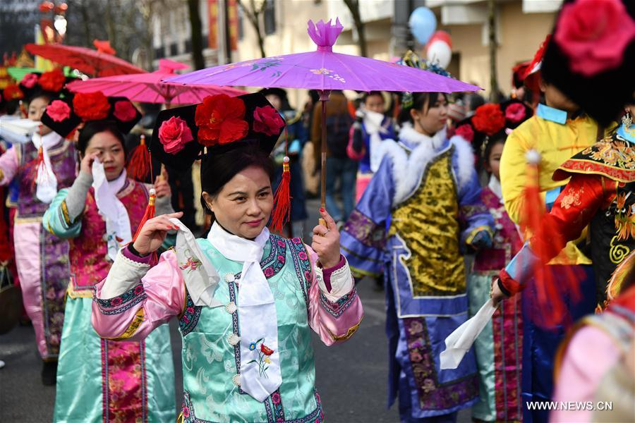 FRANCE-PARIS-CHINESE NEW YEAR-PARADE