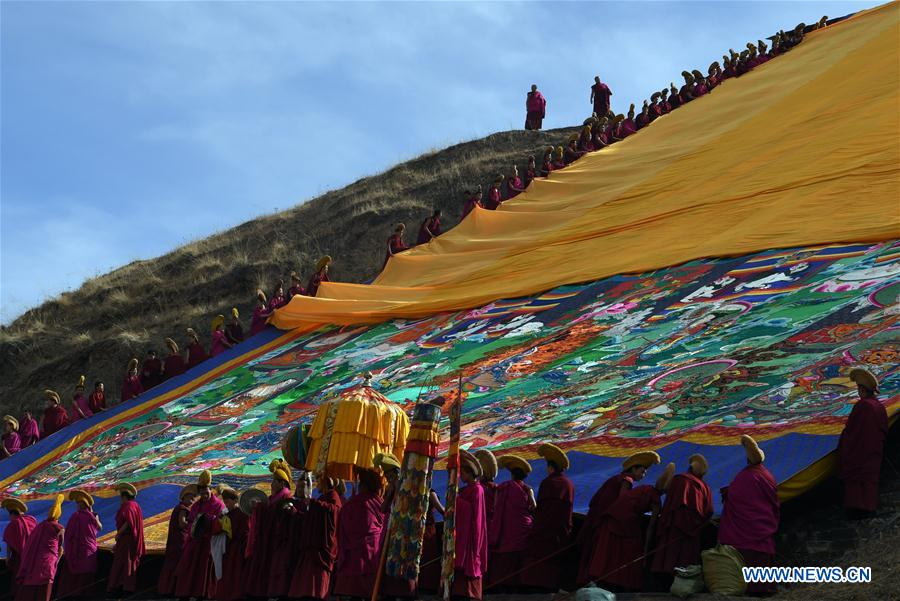 CHINA-GANSU-LABRANG MONASTERY-BUDDHIST RITUAL (CN)