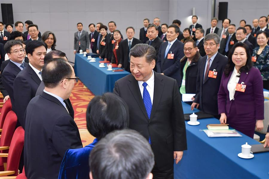 (TWO SESSIONS)CHINA-BEIJING-XI JINPING-CPPCC-JOINT PANEL DISCUSSION (CN)