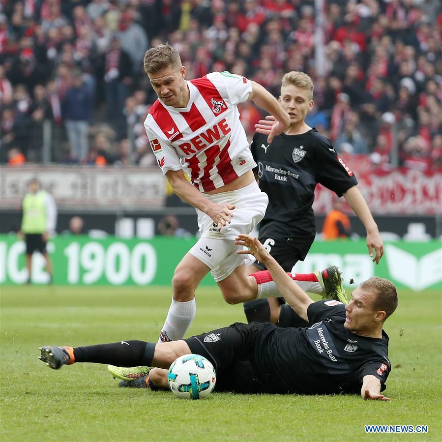 Vfb Stuttgart Beats Fc Koeln 3 2 In German Bundesliga Xinhua English News Cn