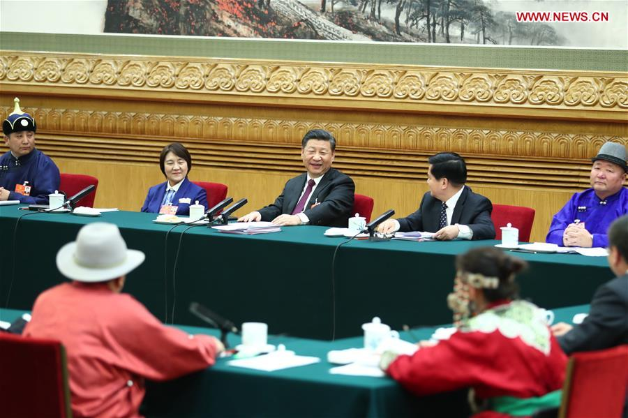 (TWO SESSIONS)CHINA-BEIJING-XI JINPING-NPC-PANEL DISCUSSION (CN)