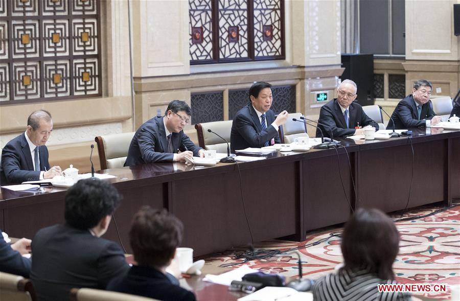 (TWO SESSIONS)CHINA-BEIJING-LI ZHANSHU-NPC-PANEL DISCUSSION (CN)