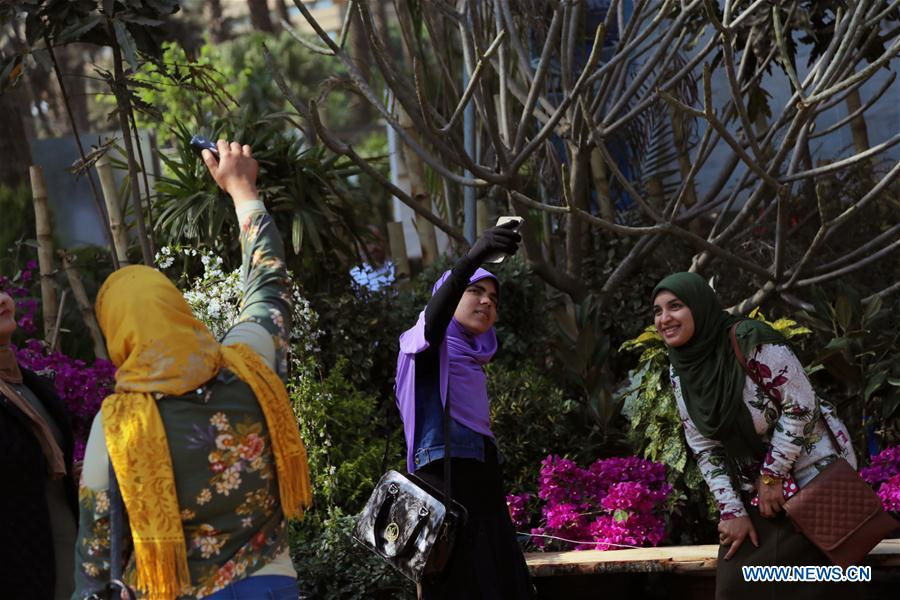 EGYPT-GIZA-SPRING FLOWER EXHIBITION