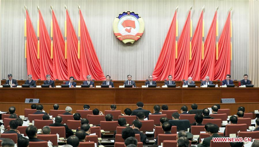 (TWO SESSIONS) CHINA-BEIJING-CPPCC-PRESIDIUM-MEETING (CN)