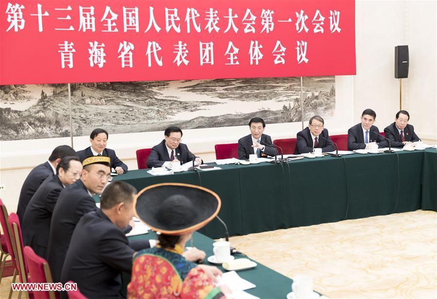 (TWO SESSIONS)CHINA-BEIJING-WANG HUNING-NPC-PANEL DISCUSSION (CN)