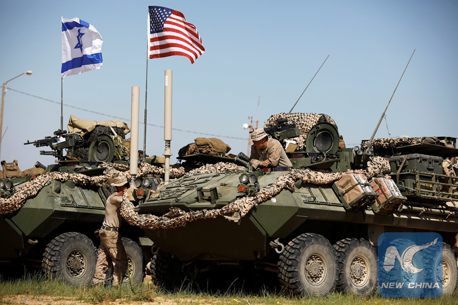Israel-U S  joint military exercise