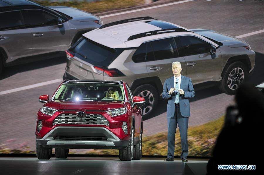 All New 2019 Toyota Rav4 Makes Debut In New York Xinhua English