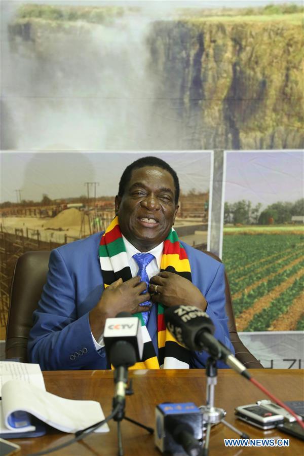 ZIMBABWE-HARARE-MNANGAGWA-INTERVIEW