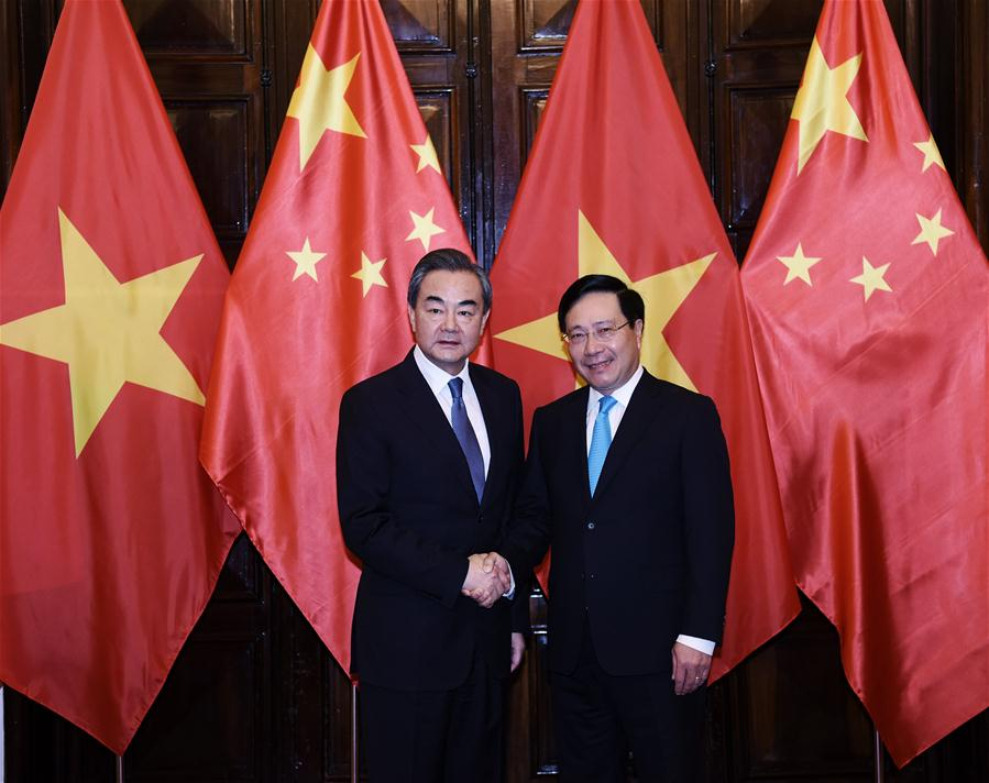VIETNAM-HANOI-CHINA-WANG YI-VIETNAM-PHAM BINH MINH-TALKS