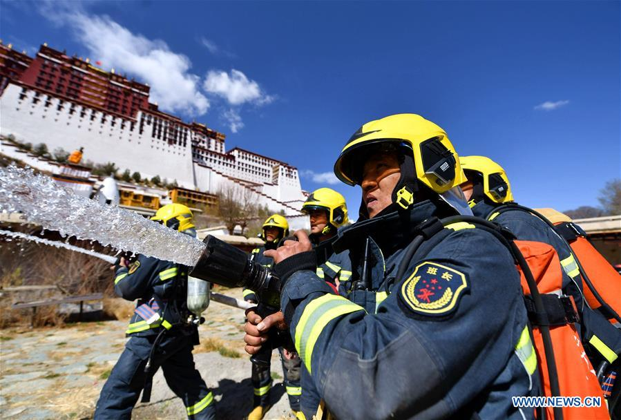 Emergency drill held at Potala Palace in China's Tibet