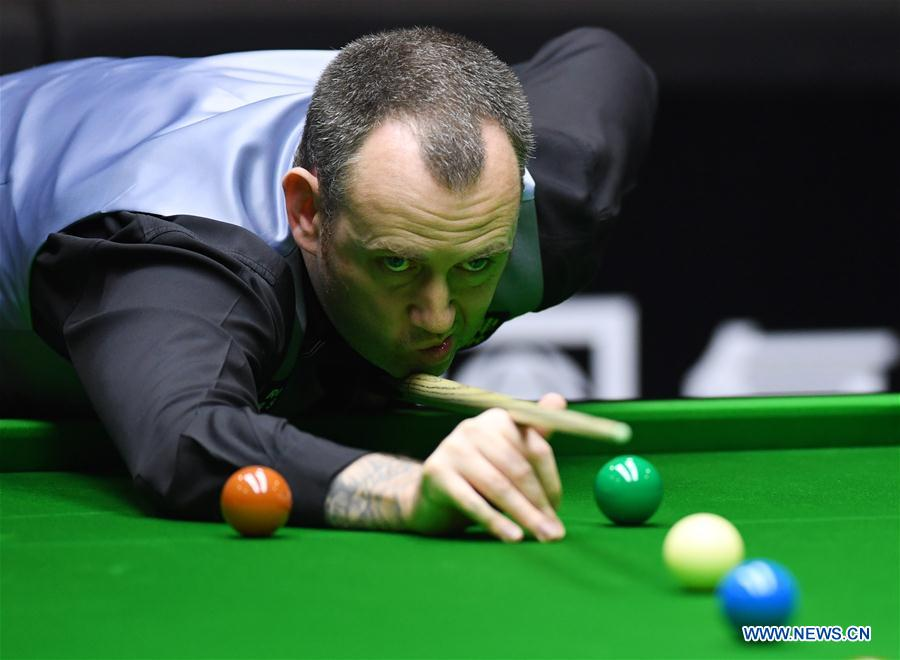 Mark Williams Selby Into World Snooker China Open Quarters All Chinese Out Xinhua English News Cn - How To Mark Out A Pool Table