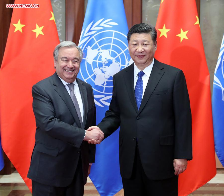 CHINA-BEIJING-XI JINPING-UN-ANTONIO GUTERRES-MEET (CN)