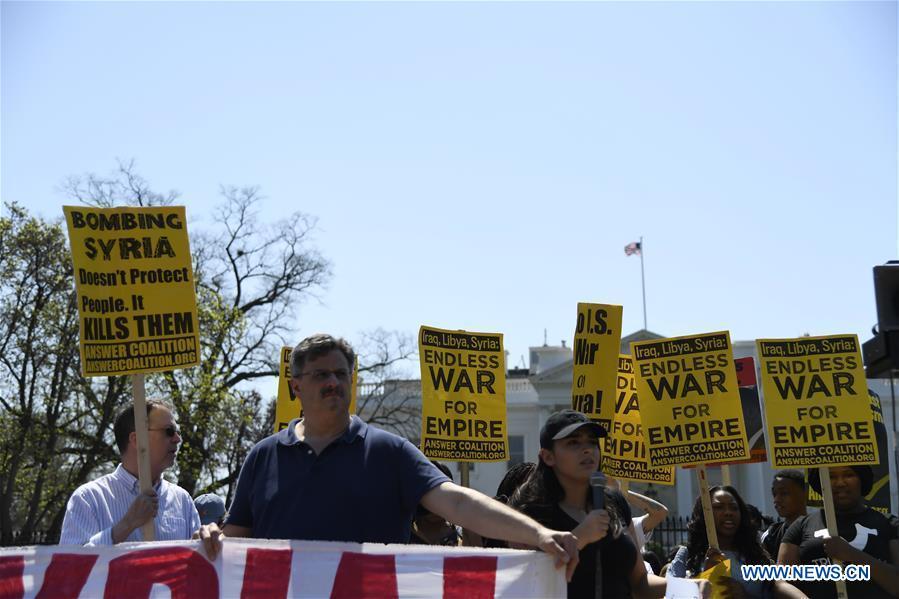 U.S.-WASHINGTON D.C.-STRIKE-SYRIA-PROTEST