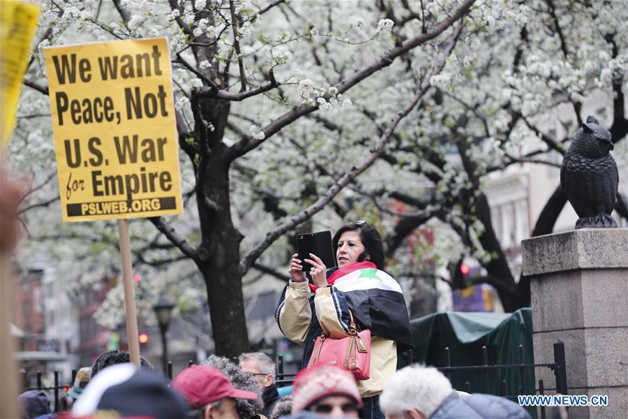 U.S.-NEW YORK-ANTI-WAR PROTEST