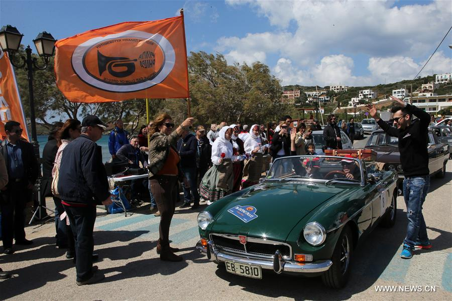 Vintage cars take part in 24th Spring Classic Car Rally in Greece ...