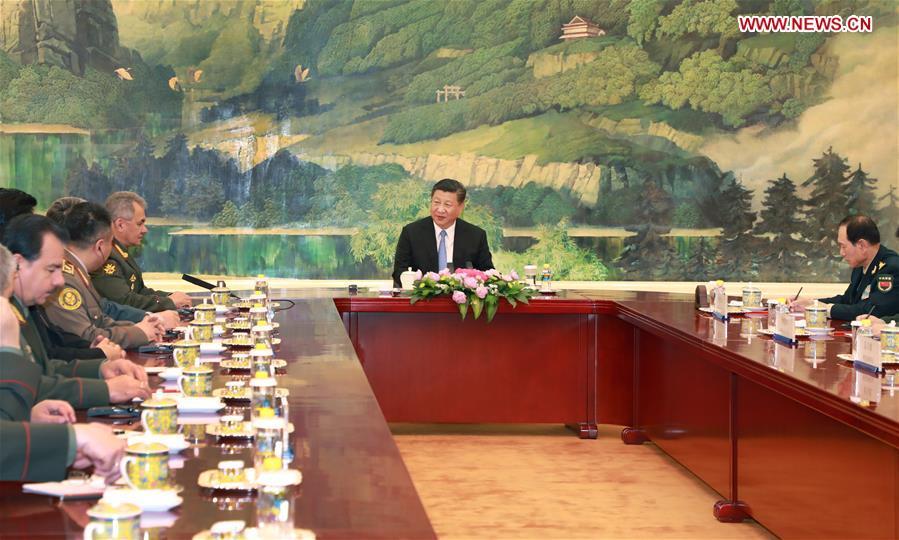 CHINA-BEIJING-XI JINPING-SCO-DEFENSE-MEETING (CN)