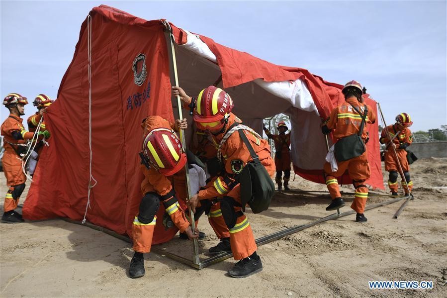 CHINA-NINGXIA-DISASTER-EARTHQUAKE-DRILL (CN)